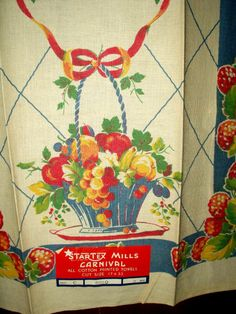 Kitchen Towels ~ From Seasons Past « The Gatherings Antiques Vintage ...