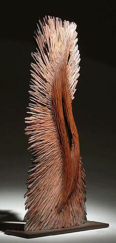 """*Wood Sculpture - """"Fleur 2"""" by Donald Brecker"""
