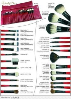 EmaxDesign Makeup Brushes Pieces Makeup Brush Set, 10 Pieces Professional Foundation Blending Blush Eye Face Liquid Powder Cream Cosmetics Brushes & 1 Piece Black Beauty Sponge Blender With Bag - Cute Makeup Guide How To Wash Makeup Brushes, Make Makeup, Skin Makeup, Makeup Tools, Beauty Makeup, Pretty Makeup, Awesome Makeup, Stunning Makeup, Makeup Brush Storage