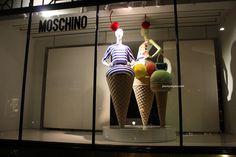 Moschino windowws on Conduit street, London