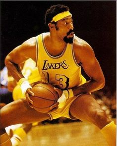 Wilt Chamberlain as a LA Laker. Many consider Wilt to be the most dominant player of all time in the NBA. Most of his records will probably never be surpassed. The name Wilt Chamberlain is just as important to the game of basketball as Babe Ruth is to baseball, and Jim Brown to football.