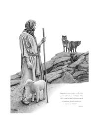 """""""I am the Good Shepherd; the Good Shepherd lays down His life for the sheep,"""" John love the power of this image.the enemy waits for us to wander away from the protection of our Savior so he can devour us.We are safe when we stay close to Jesus. Lord Is My Shepherd, The Good Shepherd, Jesus Shepherd, Religion, Image Jesus, Prophetic Art, Jesus Art, Biblical Art, Jesus Pictures"""