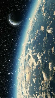 """Earth and Moon from space ~ Mik's Pics """"Cosmos"""" board Earth And Space, Planet Earth From Space, Cosmos, Space And Astronomy, Astronomy Science, Space Planets, To Infinity And Beyond, Deep Space, Galaxy Wallpaper"""