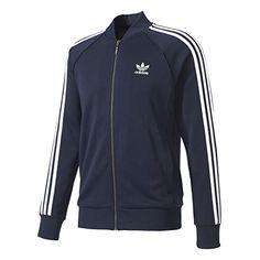 Adidas Originals Men's Superstar Track Jacket - Blue S Adidas Superstar, Black Adidas, Adidas Men, Expensive Clothes, Mens Activewear, Adidas Originals Mens, Hoodie Jacket, Look Cool, Men Dress