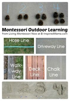 Montessori Inspired Outdoor Learning at B-InspiredMama.com