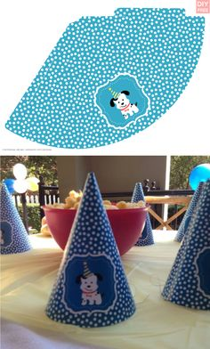 DIY Free Doggy Party Blue Party Hat - JustLoveDesign