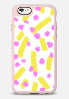 Chartreuse strokes & dots - Brightly Spring iPhone 6s case by Allyson Johnson   Casetify