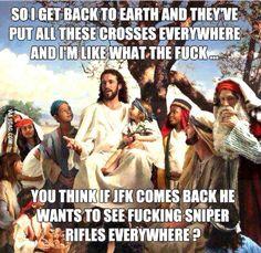 Jesus got a point