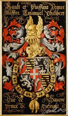 Armorial plates from the Order of the Golden Fleece   Emmanuel Philibert, Prince of Piedmont