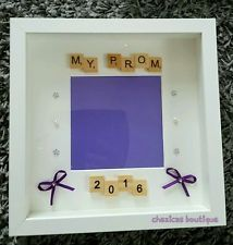 My prom 2016 Personalised Bespoke scrabble photo Frame memories school