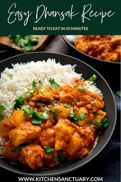 This is my easy dhansak recipe - ready in 45 minutes, with at least half of that hands-off time. It has tender chicken in a tangy, sweet and slightly spicy sauce, made lusciously thick and rich with the addition of red lentils. #dhansak #chickendhansak #chickendhansak #easydhansk #chickendhansakrecipeindian