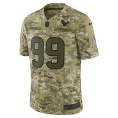 NFL Houston Texans Salute to Service Limited Jersey (J.J. Watt) Men s  Football Jersey Size S (Camper Green) bd75f0913