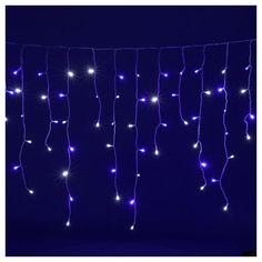 3c8b6372496 Cadena luminosa estalactitas 180 led blanco azul interior exterior   lucesnavideñas  decoracionesluminosas  lucesnavidad