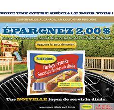 Coupons Butterball tout au long de l'été. http://rienquedugratuit.ca/coupons/butterball-lete/