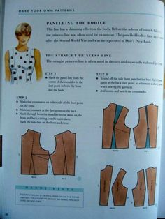 Dart - neckline - top women Easy Sewing Patterns, Mccalls Patterns, Clothing Patterns, Sewing Lessons, Sewing Hacks, Sewing Tutorials, Pattern Cutting, Pattern Making, Modelista