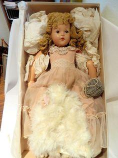 """WWII -21"""" Effanbee Ann Shirley """"Little Lady"""" Doll Yarn Wig, original clothes #Effanbee"""