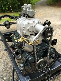 Chain driven blower on a flathead.   Sweet!