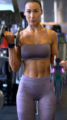 Gym Workout Videos, Gym Workout For Beginners, Fitness Workout For Women, Gym Workouts, Fitness Tips, Workout Routines, Female Biceps, Biceps Workout, Bicep Workout Women