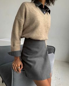Office Outfits, Mode Outfits, Fall Outfits, Fashion Outfits, Womens Fashion, Petite Fashion, Office Attire, Office Fashion, Work Fashion