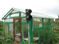 recycled windows greenhouse