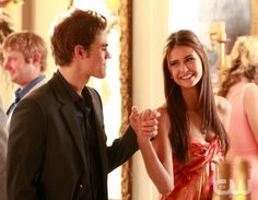 """Family Ties"" - Paul Wesley as Stefan, Nina Dobrev as Elena in THE VAMPIRE DIARIES on The CW. Photo: Quantrell Colbert/The CW ©2009 The CW Network, LLC. All Rights Reserved. (1035)"