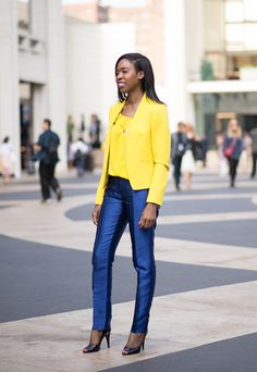 """""""I think fashion boosts my confidence in that I feel great when I put on something that I really love, and that puts a smile on someone else's face. It doesn't just boost my confidence, it lifts the spirits of those around me, too."""" Attorney, SueAnn Stevens, #MyPowerOutfit #streetstyle #NYFW"""