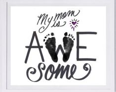Mother's Day Footprint Art, your child's actual prints. Mother's Day, New Baby Mother's Day Footprint Art, your child's actual prints. Mother's Day, New Baby Daycare Crafts, Baby Crafts, Crafts To Do, Daycare Rooms, Kid Crafts, Craft Projects, Mothers Day Crafts For Kids, Fathers Day Crafts, Toddler Art