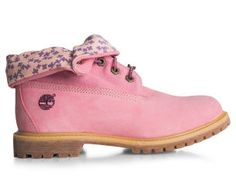 Timberland Women s Authentic Roll Top Boots - Pink 32df9b763c7
