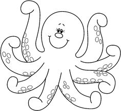 free animals octopus printable coloring pages for children