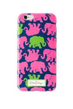 Your phone can officially be dressed in the best just like you! Printed Thermoplastic Polyurethane iPhone 6 Plus Cover. Fits iPhone 6 Plus.  iPhone 6 Elephant Case by Lilly Pulitzer. Accessories - Tech Connecticut