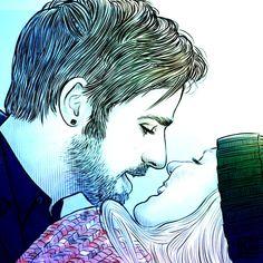 Colin O'Donoghue - Killian Jones -Captain Hook - Jennifer Morrison - Emma Swan - Captain Swan - Once Upon A Tim
