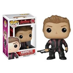 From the 2015 Marvel movie Avengers: Age of Ultron, this Funko Pop! Vinyl figure stylizes Hawkeye, as played by Jeremy Renner, as a chibi bobble head. Hawkeye is one of the agents of S.H.I.E.L.D. and is showing off his new purple and charcoal jacket from the film. It stands about 3 3/4-inches tall and comes in a collectible window box. #nesteduniverse