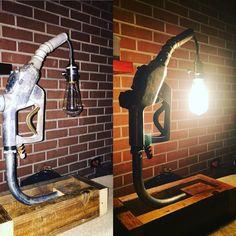 Gas pump handle lamp