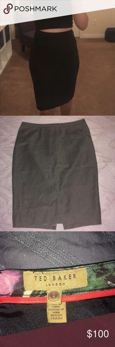Women's Black Pencil Skirt Black zip up Pencil Skirt. Good condition. Ted Baker Skirts Pencil