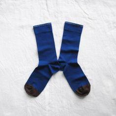 Chaussettes Bonne Maison / Bonne Maison socks - Uni Bleu Drapeau