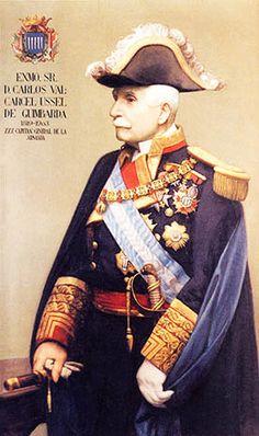 31º Capitán General de la Armada Española. Carlos Valcárcel y Ussel de Guimbarda 1899 Caballero del Toisón de Oro