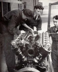 Guernsey evacuee Winifred West repaired such engines. She retired on ill health from the WAAF and then worked on the secret plans for D Day. Aircraft Engine, Ww2 Aircraft, Rolls Royce Merlin, Trains, Diesel, Airplane Art, Automobile, Supermarine Spitfire, Historical Images