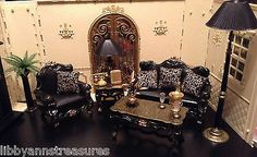 BARBIE OOAK~MONSTER HIGH~FASHION ROYALTY HOUSE FRENCH LIVING ROOM FURNITURE SET