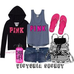 """VS PINK"" by srose38 on Polyvore"