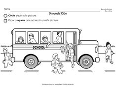 School bus Transportation coloring pages for kids