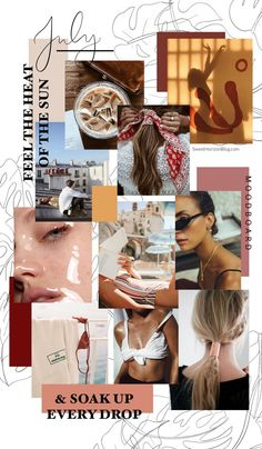 Discover recipes, home ideas, style inspiration and other ideas to try. July Background, Collage Background, Fashion Background, Website Design, Web Design, Pantone Cards, Mood Board Fashion, Fashion Boards, Feeds Instagram