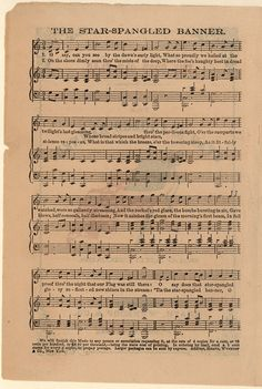 The star-spangled banner; Good old flag [Historic American Sheet Music]