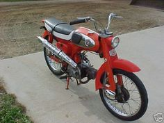 1965 Honda Sport Not very powerful, engine and was my first-ever motorcycle bought new in (the photo is not my own, I've used it to illustrate what the motorcycle looked like) Cafe Racer Honda, Honda Cub, Honda Bikes, Japanese Motorcycle, Dirt Bikes, Design Thinking, Cool Bikes, Vintage Japanese, Cars And Motorcycles