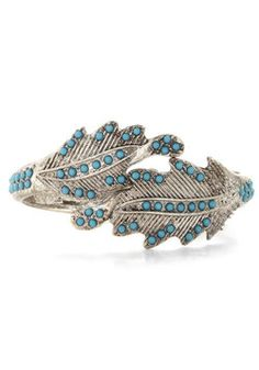 Fancy Foliage Bracelet, #ModCloth  This one reminds me of my grandmother. She loves turquoise.  The woman has style!