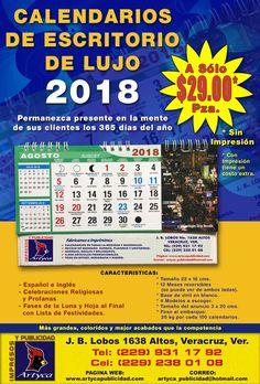 Flyer calendario de escritorio