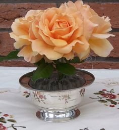 Vintage Silver Plated Rose Bowl Vintage vase by thesecretcupboard, £8.00
