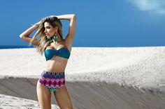 Biquíni cintura alta Mel Caju moda praia coleção 2015!