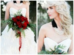 Beautiful red winter bouquet by Victorian Gardens / victoriangardens.com / image by Alea Lovely / www.alealovely.com