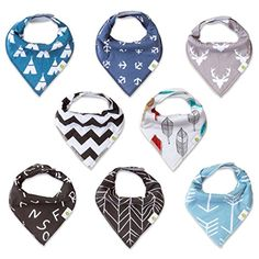 Baby Bandana Drool Bibs By BB Bazaar Unisex 8Pack Absorbent Organic Cotton Cute Baby Gift for Boys  Girls >>> See this great product. (This is an affiliate link and I receive a commission for the sales) #BottleFeeding