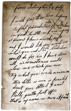 Ned Kelly's letter to Sergeant Babington in 1870, two months after Harry Power's capture. Apart from signatures, it is the only surviving example of Ned's handwriting. The grammar and spelling are as good as could be expected from a boy with only two-and-a-half years of education.